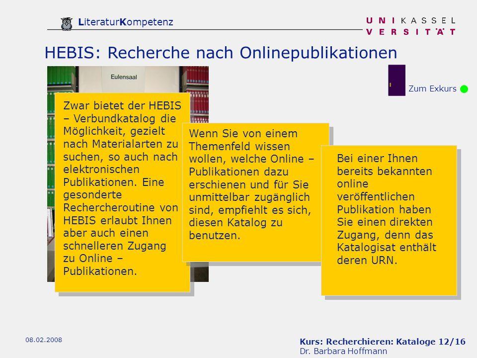 Kurs: Recherchieren: Kataloge 12/16 Dr.