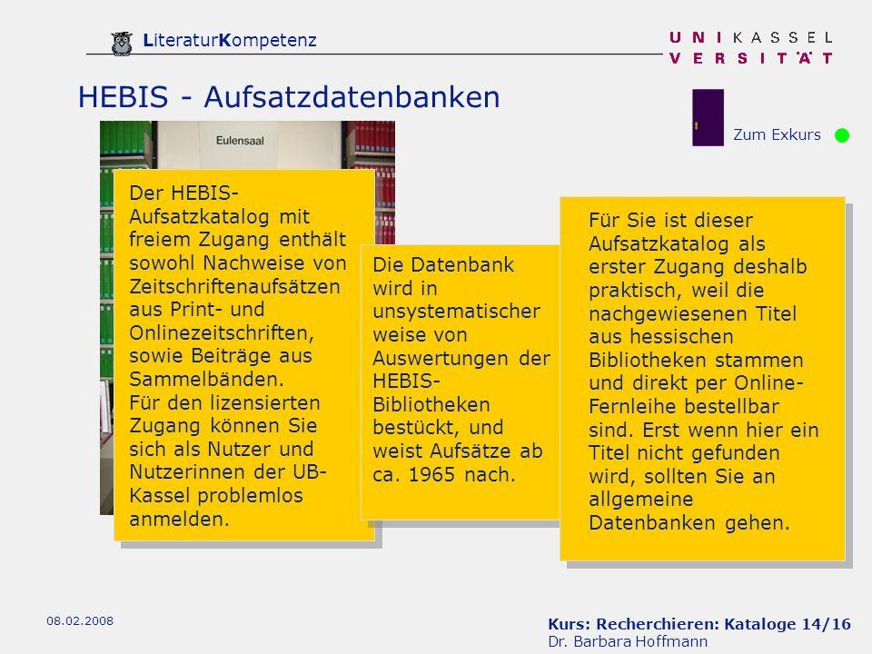 Kurs: Recherchieren: Kataloge 14/16 Dr.