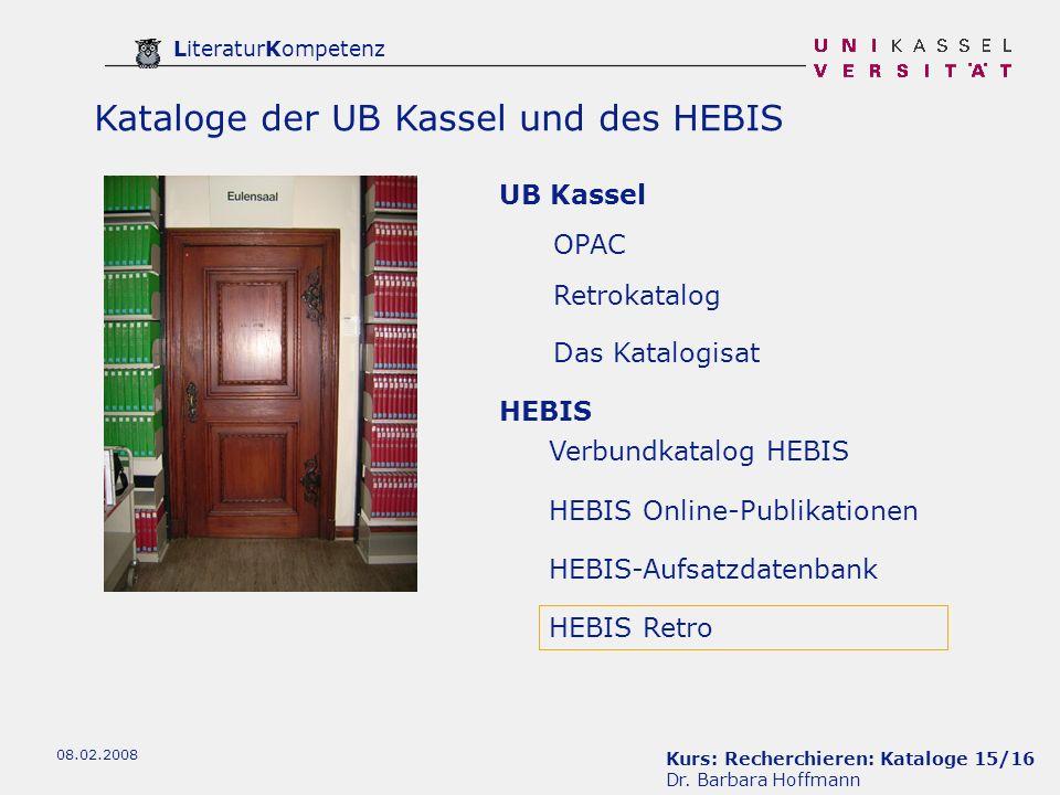 Kurs: Recherchieren: Kataloge 15/16 Dr.