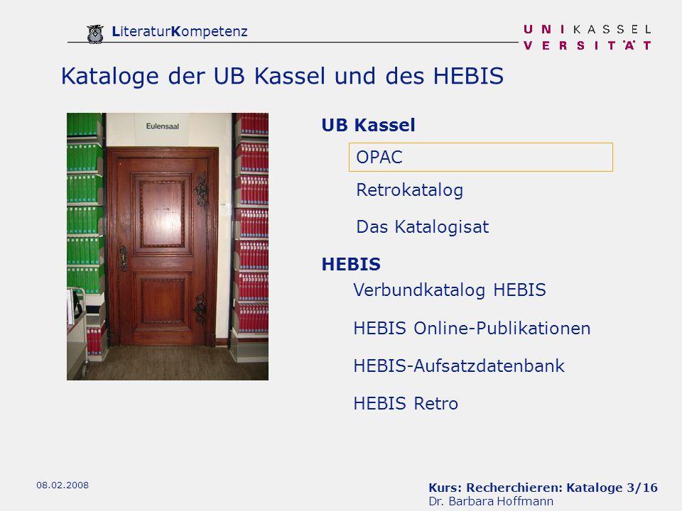 Kurs: Recherchieren: Kataloge 3/16 Dr.