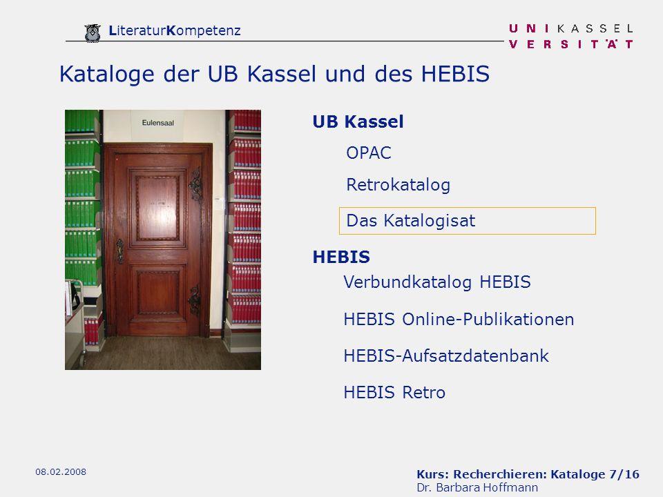 Kurs: Recherchieren: Kataloge 7/16 Dr.