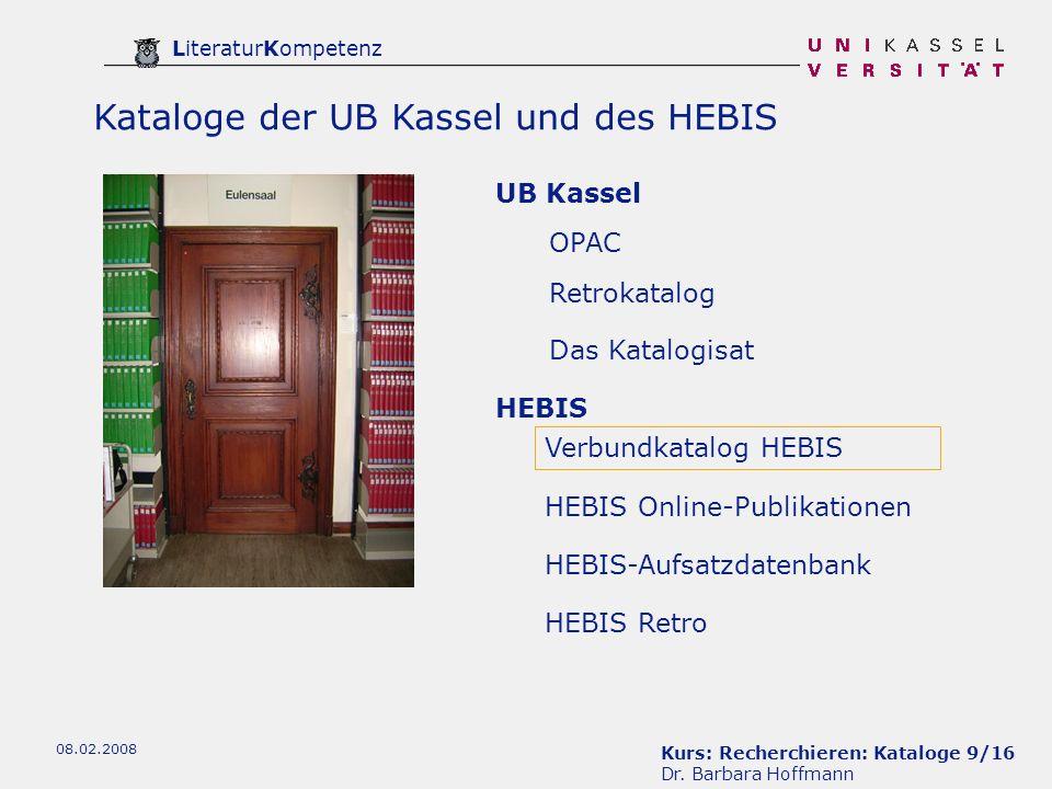 Kurs: Recherchieren: Kataloge 9/16 Dr.