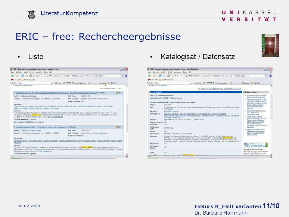ExKurs B_ERICvarianten 11/10 Dr.