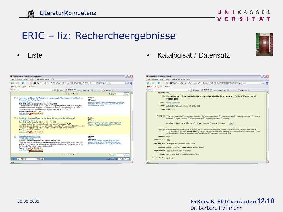 ExKurs B_ERICvarianten 12/10 Dr.