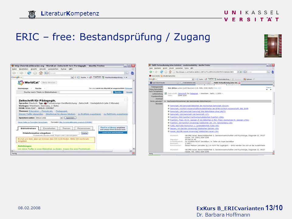 ExKurs B_ERICvarianten 13/10 Dr.