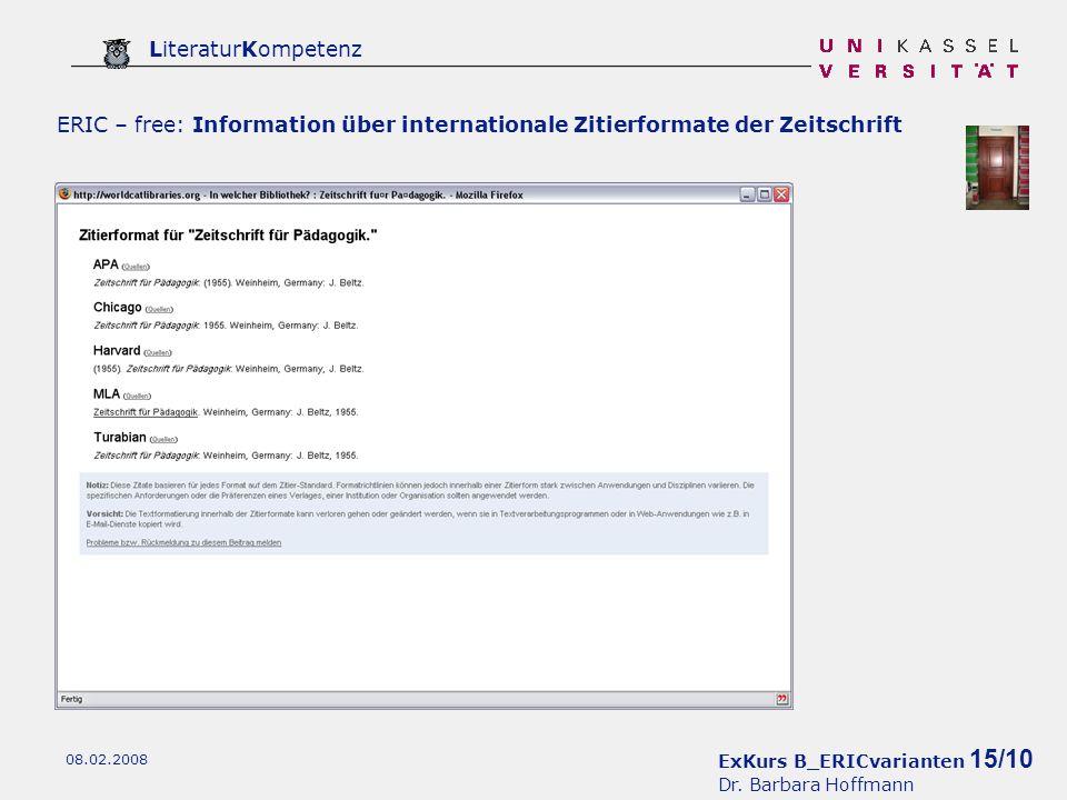 ExKurs B_ERICvarianten 15/10 Dr.