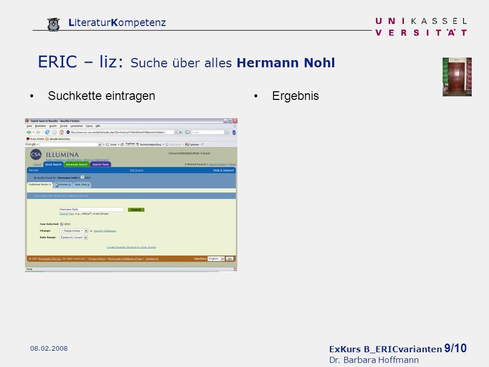 ExKurs B_ERICvarianten 9/10 Dr.