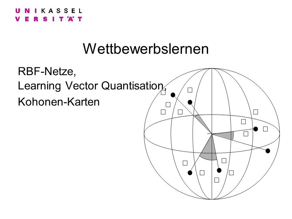 Wettbewerbslernen RBF-Netze, Learning Vector Quantisation, Kohonen-Karten