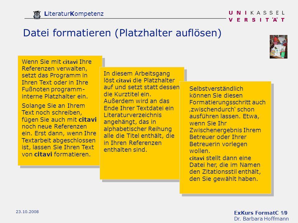 ExKurs FormatC 1/9 Dr.