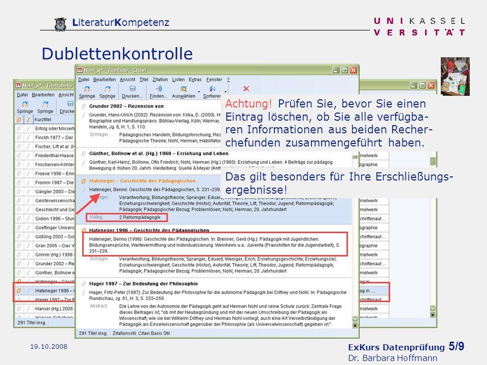 ExKurs Datenprüfung 6/9 Dr.