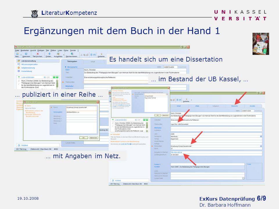 ExKurs Datenprüfung 7/9 Dr.