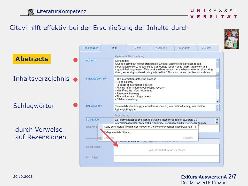 ExKurs AuswertenA 3/7 Dr.