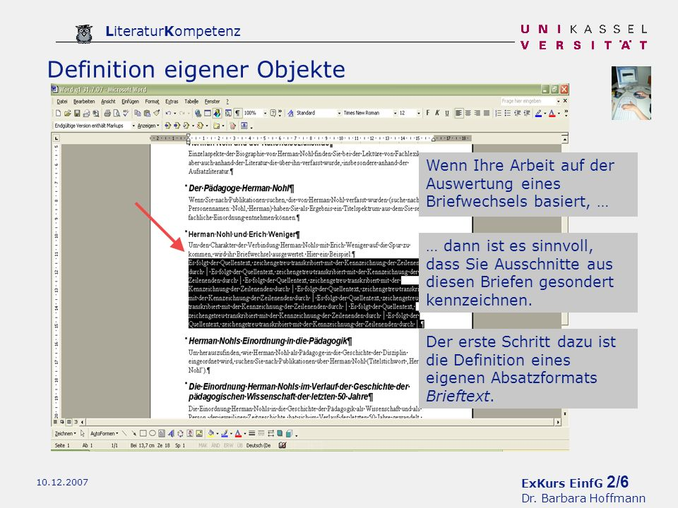 ExKurs EinfG 3/6 Dr.