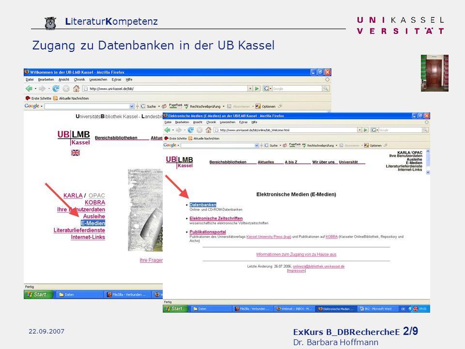 ExKurs B_DBRechercheE 3/9 Dr.