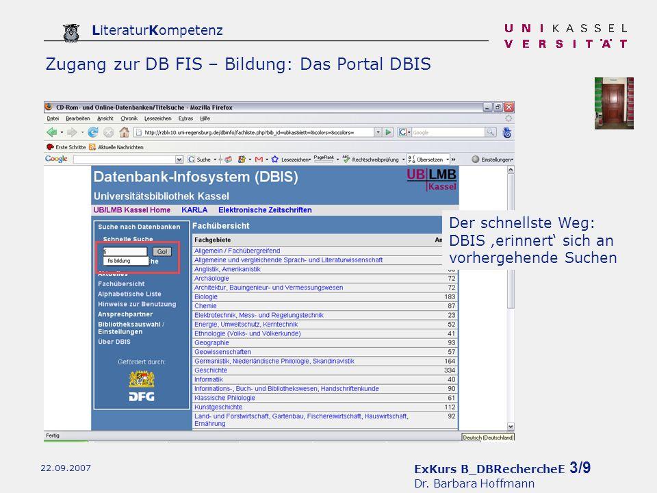 ExKurs B_DBRechercheE 4/9 Dr.