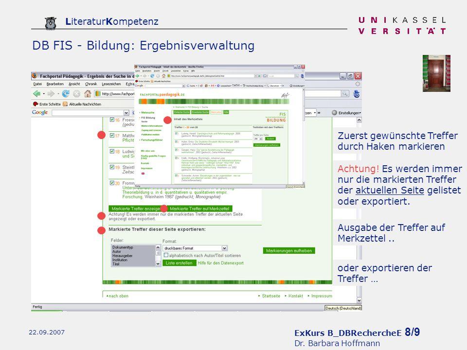 ExKurs B_DBRechercheE 9/9 Dr.