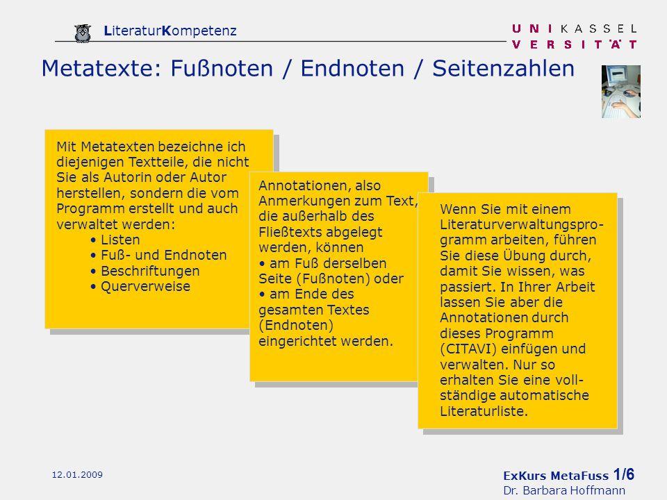 ExKurs MetaFuss 1/6 Dr.