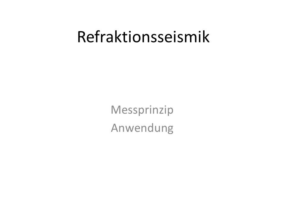 Refraktionsseismik Messprinzip Anwendung