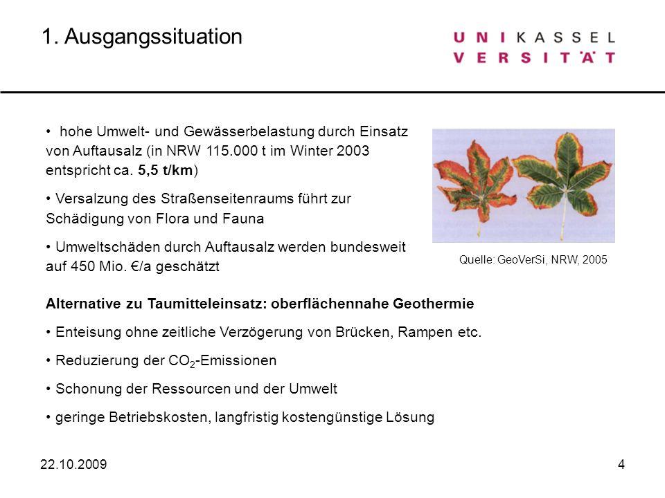4 hohe Umwelt- und Gewässerbelastung durch Einsatz von Auftausalz (in NRW 115.000 t im Winter 2003 entspricht ca. 5,5 t/km) Versalzung des Straßenseit
