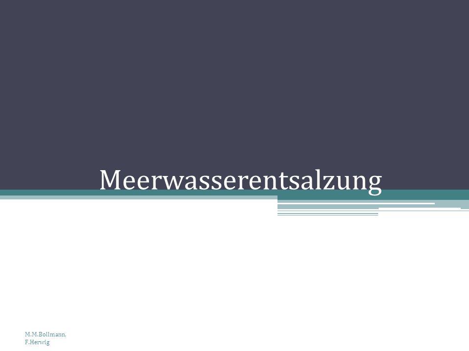 Meerwasserentsalzung M.M.Bollmann, F.Herwig