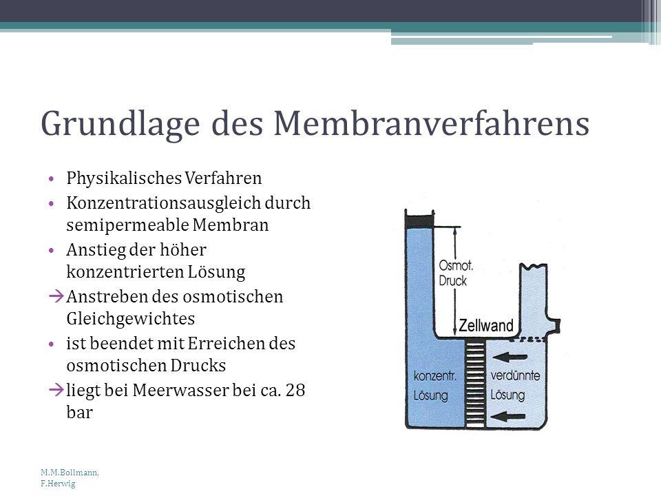 Grundlage des Membranverfahrens Physikalisches Verfahren Konzentrationsausgleich durch semipermeable Membran Anstieg der höher konzentrierten Lösung A