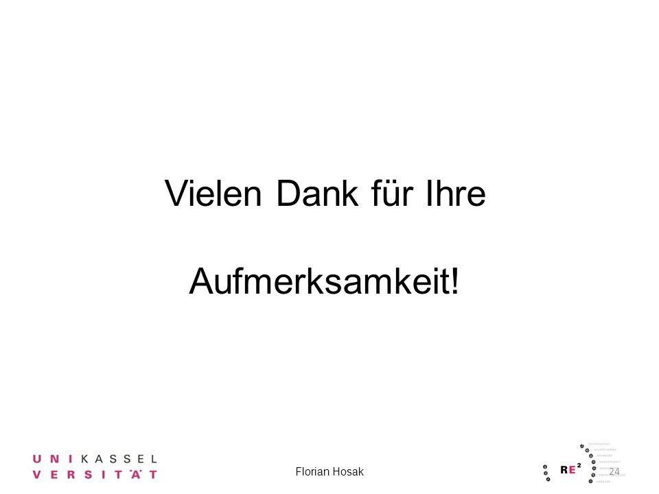 24 Florian Hosak Vielen Dank für Ihre Aufmerksamkeit!