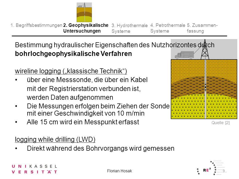 Geophysikalische Messungen in Bohrlöchern tragen u.A.