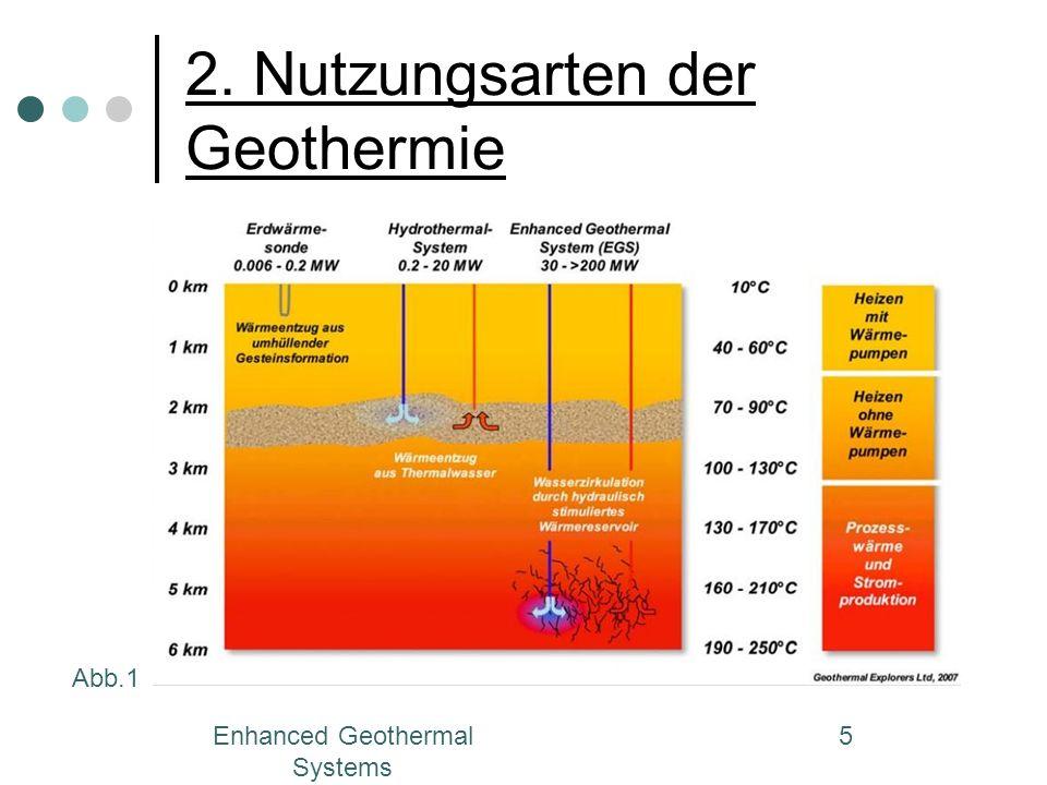 Enhanced Geothermal Systems 6 2.Nutzungsarten der Geothermie 2.1.