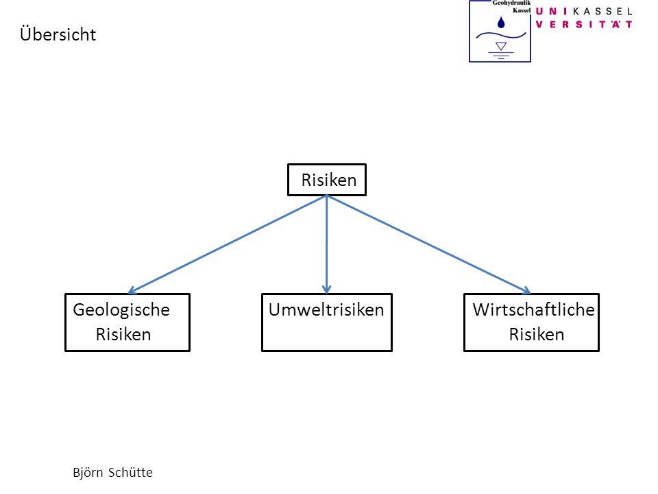 Björn Schütte Risiken Geologische Umweltrisiken Wirtschaftliche Risiken Risiken Übersicht
