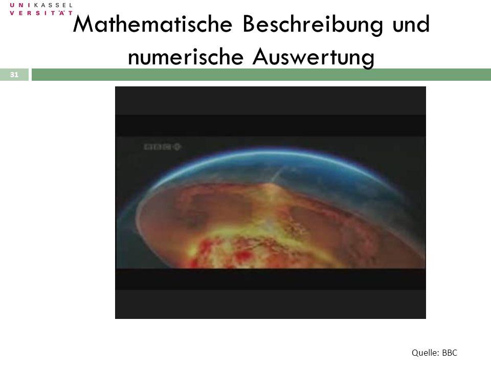 31 Mathematische Beschreibung und numerische Auswertung Quelle: BBC