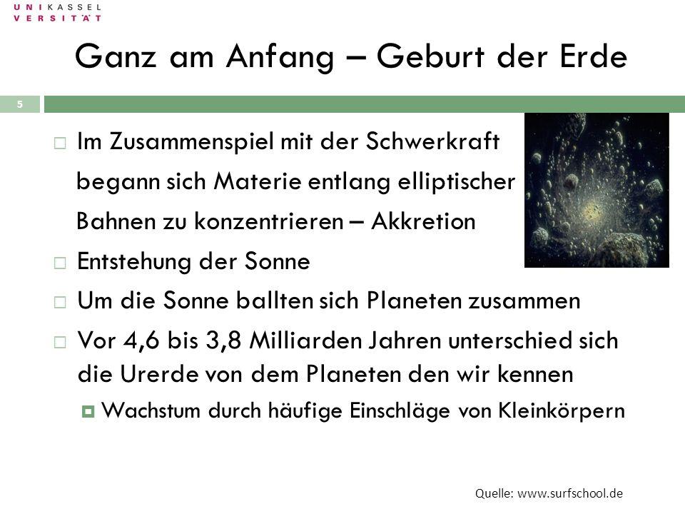 Ganz am Anfang – Geburt der Erde 28.09.2010 5 Im Zusammenspiel mit der Schwerkraft begann sich Materie entlang elliptischer Bahnen zu konzentrieren –