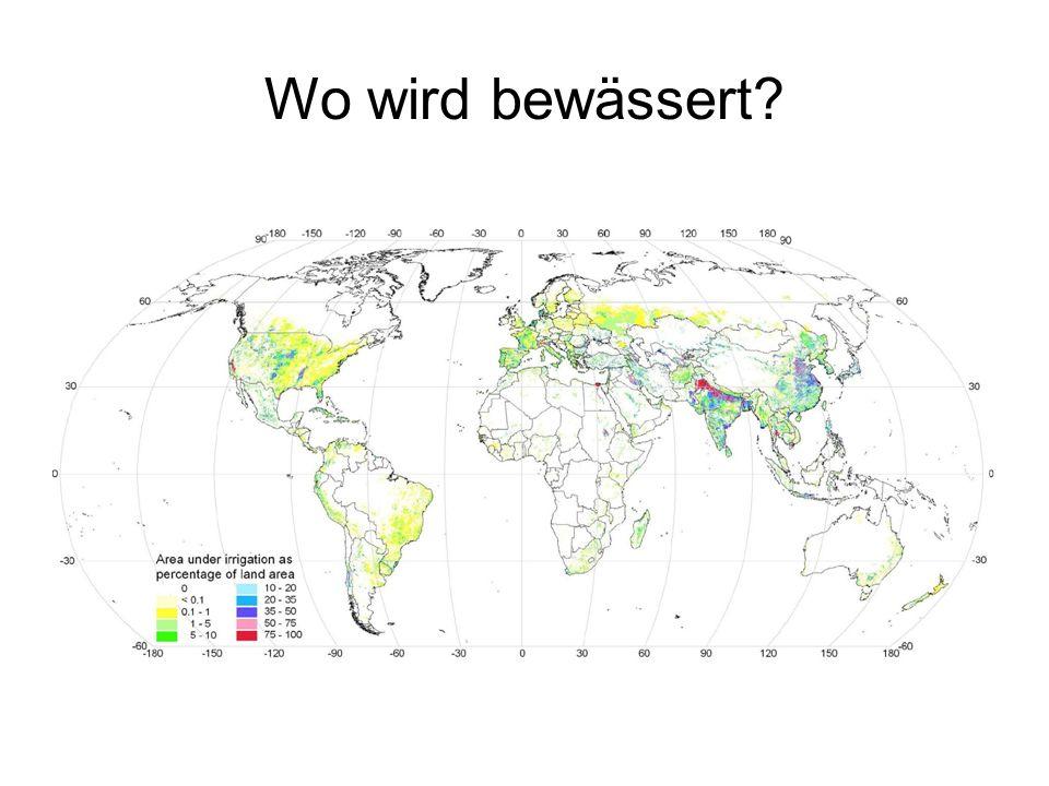 Wo wird bewässert?