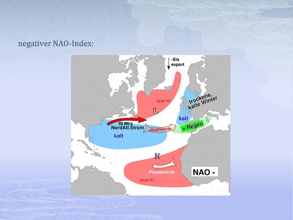 negativer NAO-Index: