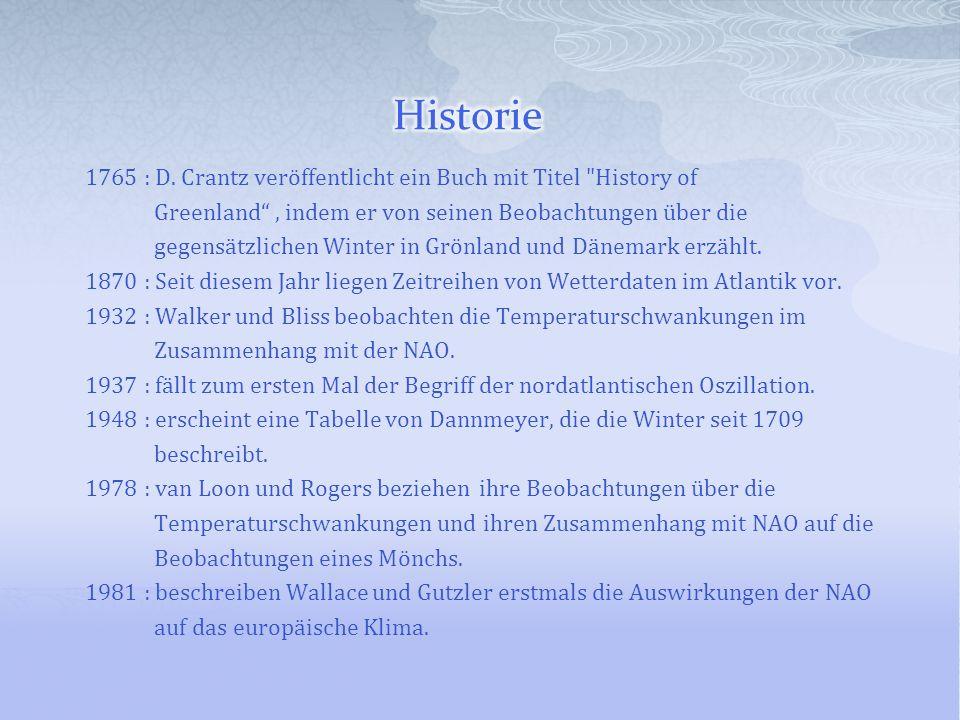 1765 : D. Crantz veröffentlicht ein Buch mit Titel