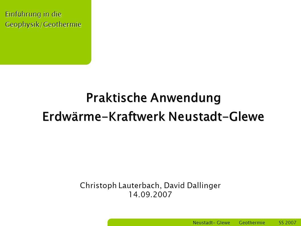 Bastian Schmitt Neustadt- Glewe Geothermie SS 2007 22 Wirkungsgrad