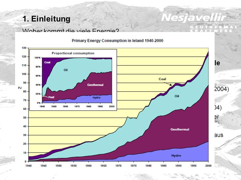 Die Geothermale Energie ist Islands wichtigste Energiequelle Island steht bezüglich der Nutzung von Erdwärme an der Weltspitze 79.700 TJ oder 53 % der
