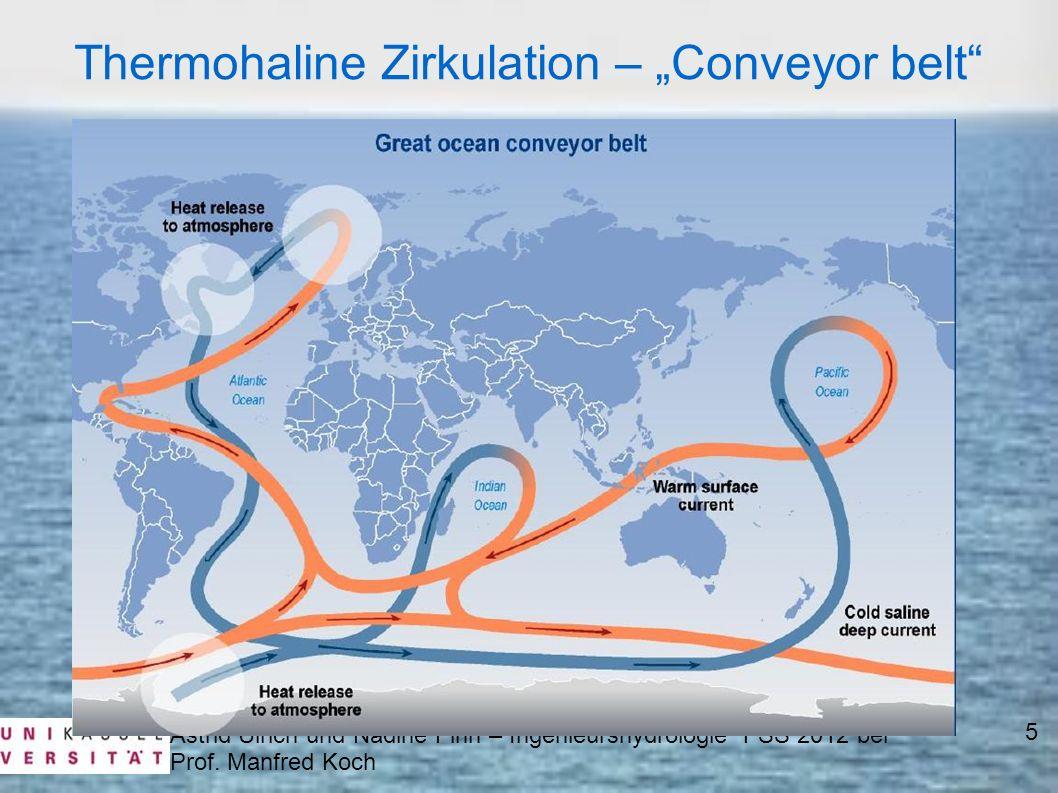 Thermohaline Zirkulation – Conveyor belt Astrid Ulrich und Nadine Finn – Ingenieurshydrologie 1 SS 2012 bei Prof. Manfred Koch 5