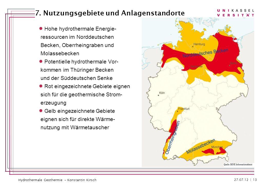 Hydrothermale Geothermie – Konstantin Kirsch Hohe hydrothermale Energie- ressourcen im Norddeutschen Becken, Oberrheingraben und Molassebecken Potenti