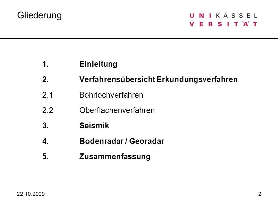 3 1.Einleitung 22.10.2009 Wozu Baugrunduntersuchungen.