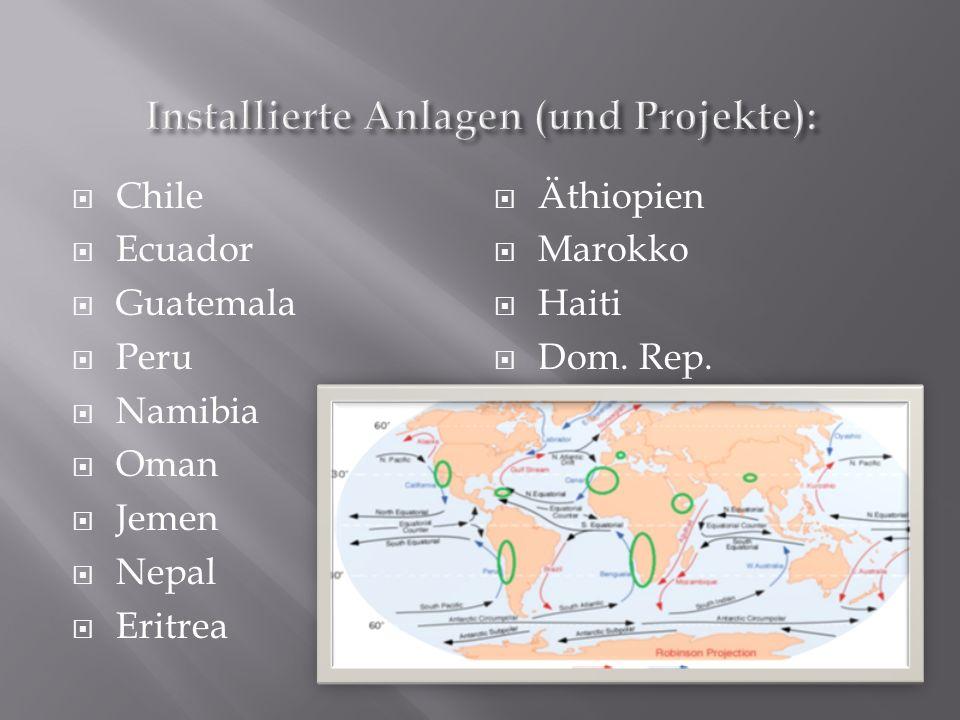 Chile Ecuador Guatemala Peru Namibia Oman Jemen Nepal Eritrea Äthiopien Marokko Haiti Dom. Rep.
