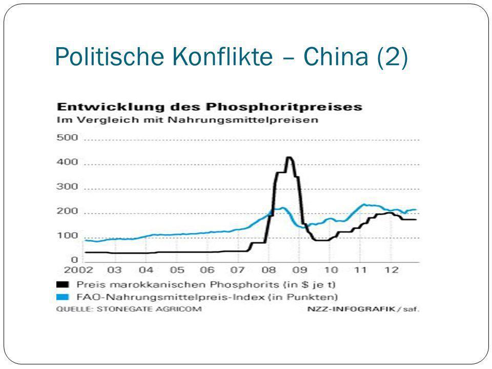 Politische Konflikte – China (2)