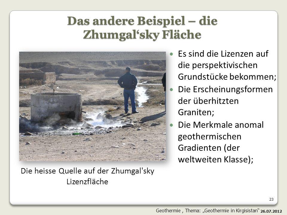 23 Es sind die Lizenzen auf die perspektivischen Grundstücke bekommen; Die Erscheinungsformen der überhitzten Graniten; Die Merkmale anomal geothermis