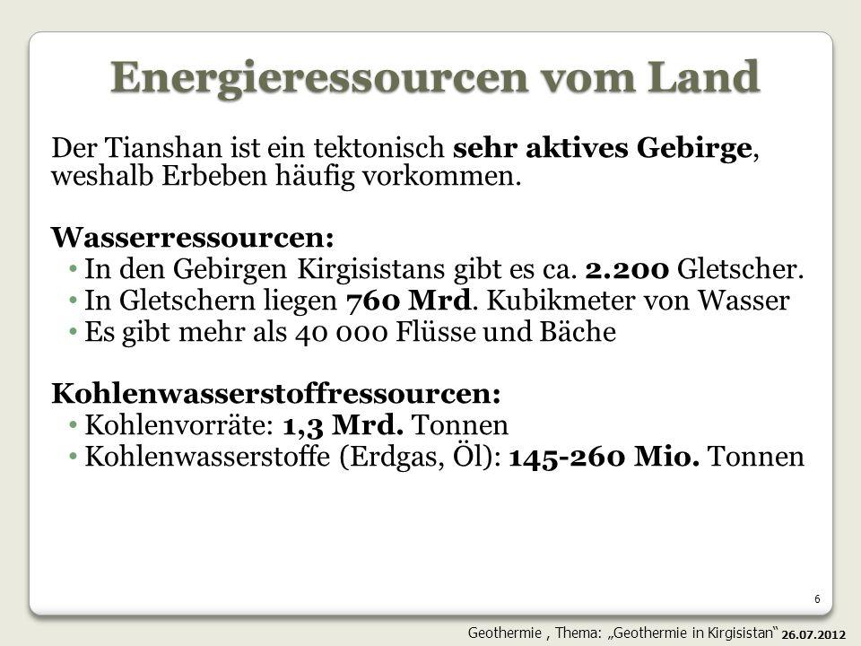 27 Das geothermishes Potential der Ressourcen des Himalajatyps (Indija/Tibet); Das Potential für geothermische Energie aus überhitztem Granit in geringer Tiefe (< 2.5км); Superhoch geothermischer Gradient ist festgelegt; Die einzigartige Möglichkeit für die Produktion der großen Umfänge der Elektroenergie mit dem Nullauswurf; Es sind die kommerziellen Bedingungen für die Begründung der Heranziehung der Investitionen nötig.
