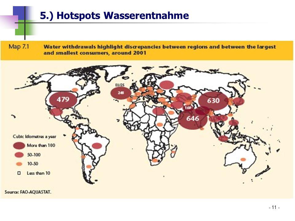 5.) Hotspots Wasserentnahme - 11 -