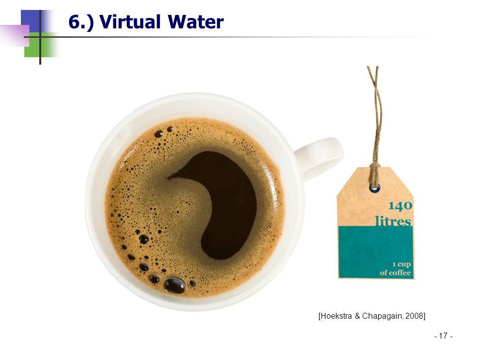- 17 - 6.) Virtual Water