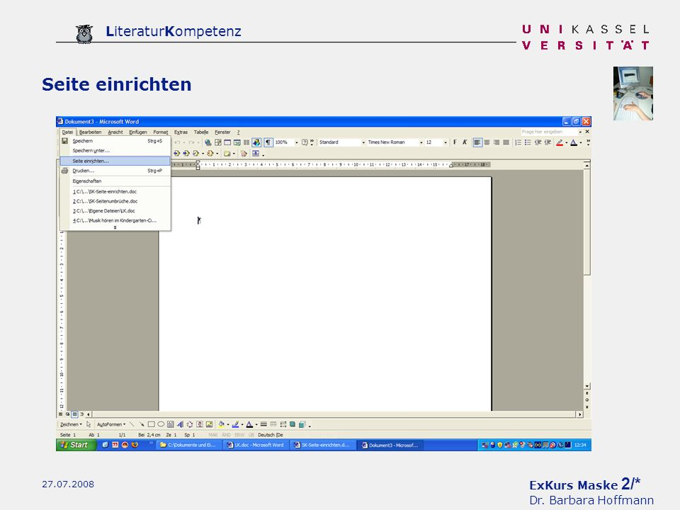 ExKurs Maske 3/* Dr. Barbara Hoffmann LiteraturKompetenz 27.07.2008