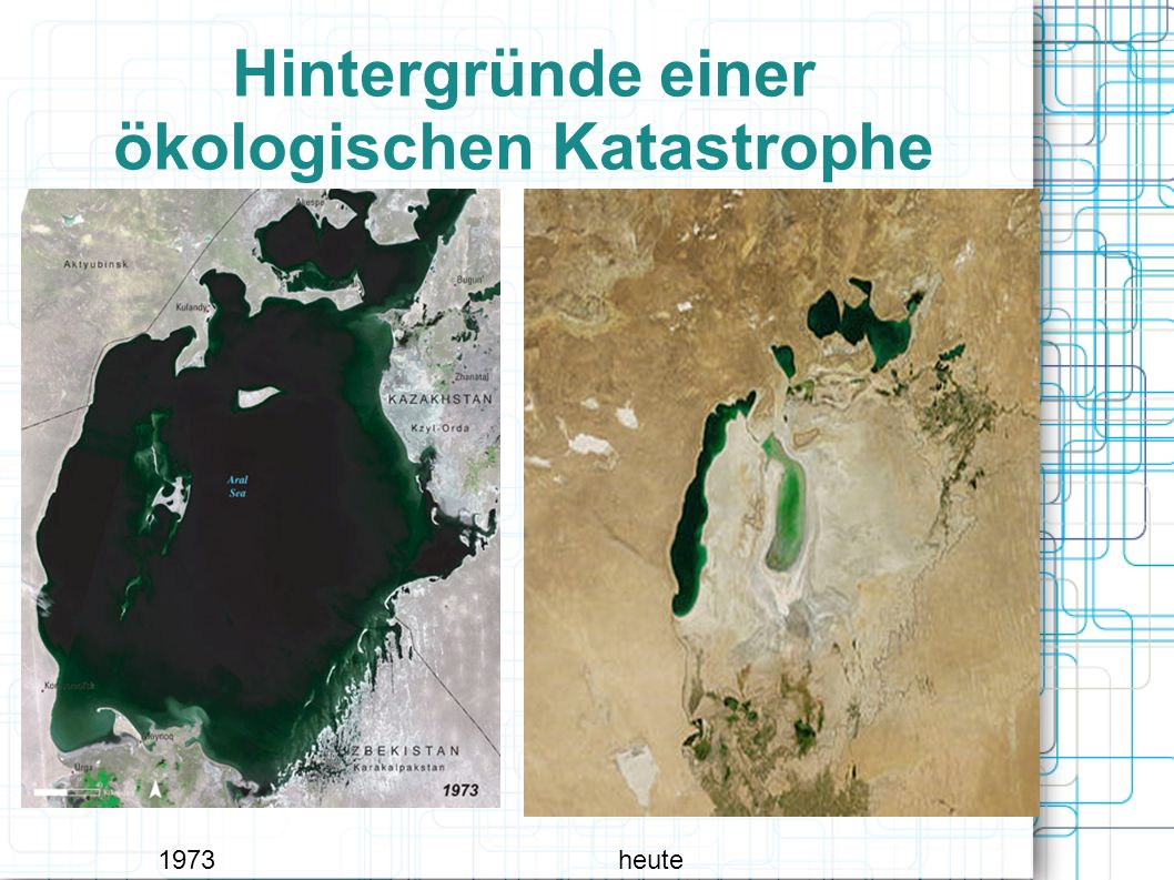 Hintergründe einer ökologischen Katastrophe 1973heute