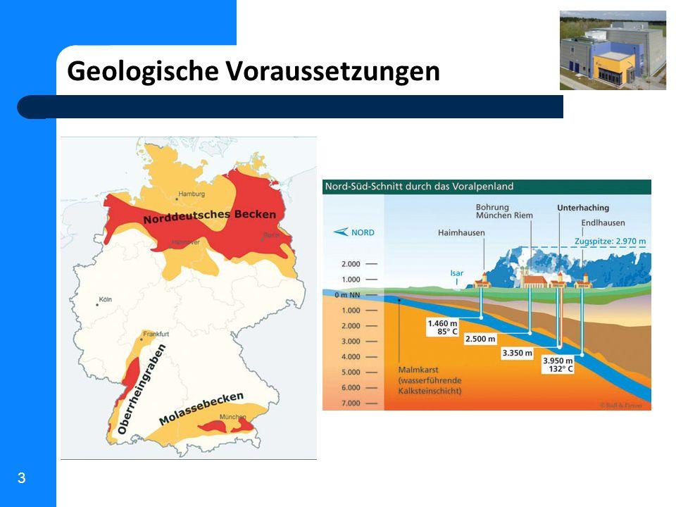 4 Hauptanforderungen Erschließung von Thermalwasser mit bis zu 150 l/s bei ca.