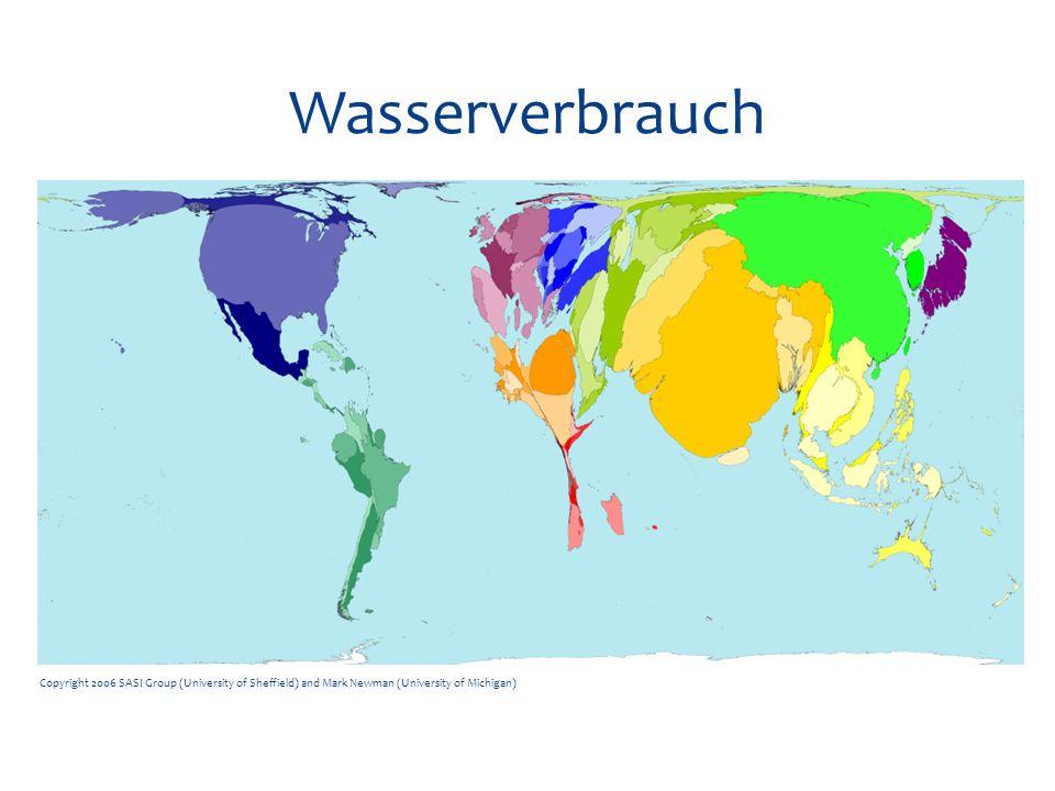 Wasserverbrauch Copyright 2006 SASI Group (University of Sheffield) and Mark Newman (University of Michigan)