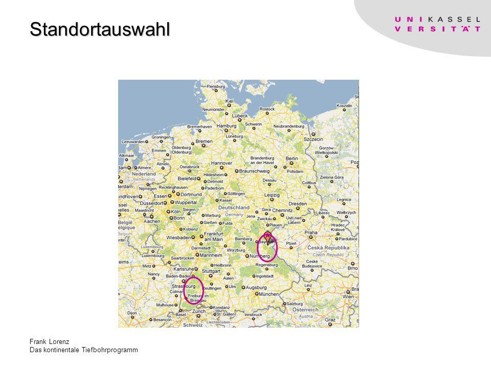 Frank Lorenz Das kontinentale Tiefbohrprogramm Standortauswahl